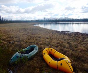 alpacka raft, pack raft, alaskan lake, remote adventures, alaska, taiga, remote